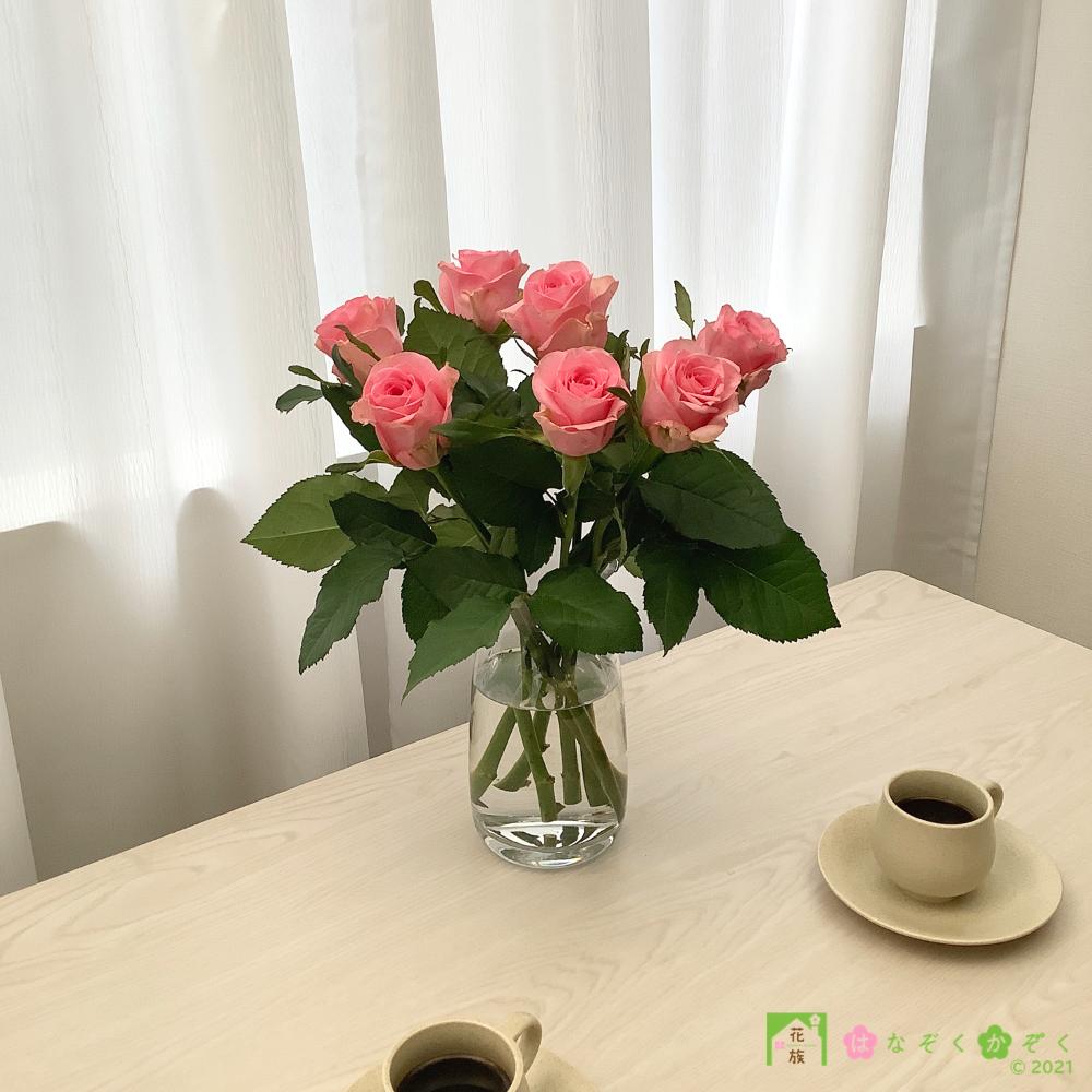 【バラ ピンク】ピンクダイアモンド/ハウスの中から最もゴージャスなバラをお届け。7本