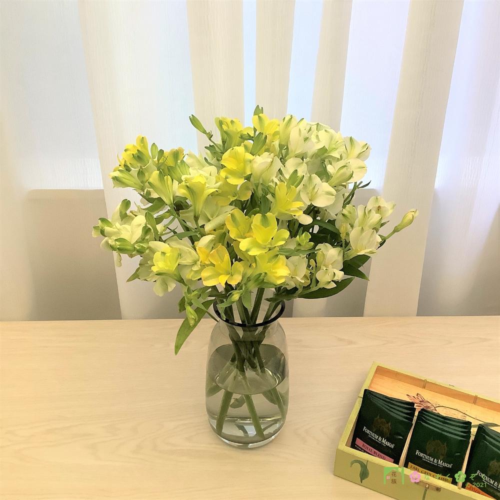 段になって咲きます!超日持ち❣【アルストロメリア】小輪系ミックス  8本